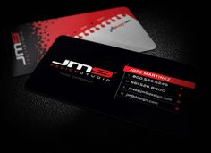 Slick Black Business Card Designs | The Finished Box