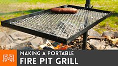 I wanted to make a portable grill that fit on our farm's fire pit. Actually, I wanted it to fit over any fire pit, so I used some scrap metal to make a quick, portable grill. Check it out at Fire Pit Grill Grate, Metal Grill, Grill Grates, Diy Grill, Camping Grill, Grilling, Make A Fire Pit, Diy Fire Pit, Portable Fire Pits