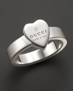 Simple ShopStyle Gucci Sterling Silver Engraved Trademark Ring