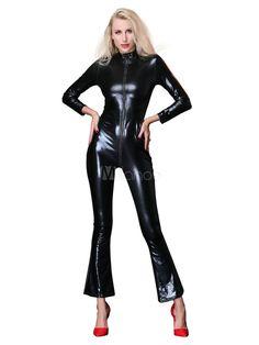 e8fae9a9aad Pole Dancing Bodysuit Long Sleeve Zip Up Clubwear  Bodysuit