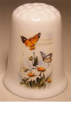 Butterflies porcelain thimble These are for sale by https://www.speelgoedenverzamelshop.nl/vingerhoedjes/feestdagen/vlinders_bedrukt_op_een_porselein_vingerhoedje_(hmpas06).html