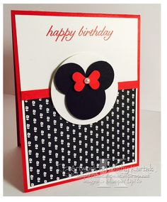 """Happy Birthday, Lilly! is made with Stampin' Up's """"Birthday Blossoms"""" stamp set."""