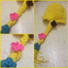 Rapunzel Crochet Winter Hat by KreativeKatie1 on Etsy