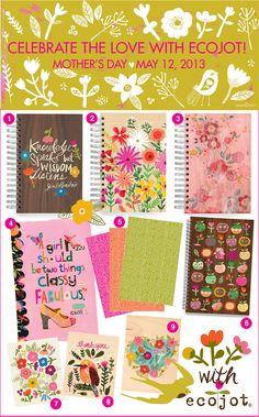 designs from ecojot designer Carolyn Gavin - BLOG mama gift ideas!