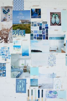 mood board Color Me Pretty: Ocean Hues Blue Colour Palette, Colour Schemes, Colour Palettes, Color Combos, Tableaux D'inspiration, Coastal Style, Coastal Colors, Ocean Colors, Color Stories
