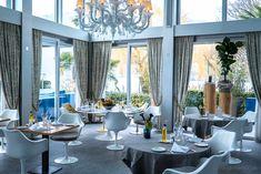 Restaurant Hotel Eden Roc in - Interior by Restaurant Bar, Hotel Eden, Fishing Villages, Switzerland, Dining Table, Places, Interior, Blog, Europe