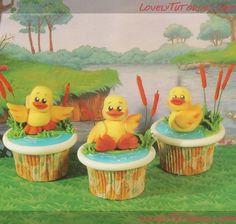 "МК капкейк ""Утенок на озере""-Duck On The Lake cupcake tutorial - Мастер-классы по украшению тортов Cake Decorating Tutorials (How To's) Tortas Paso a Paso"