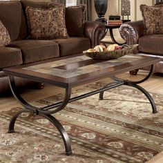 t746 Entry Table At Any Cost Oval Inlaid Top End Table