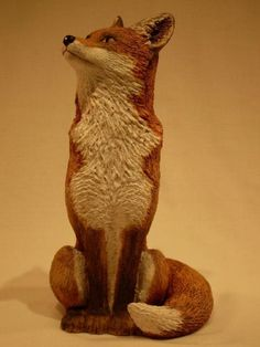 Ceramic Sitting Fox by Lynn Hazel by Lynn Hazel at Coroflot.com