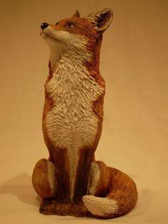 Ceramic Sitting Fox by Lynn Hazel by Lynn Hazel at Coroflot.com