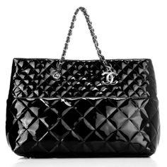 461ba0a34082 Shoulder Bags Best seller Chanel Shoulder Bags A Black Glazed Leather  Silver Chain
