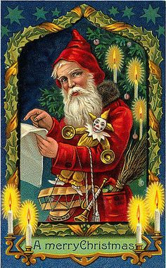 https://flic.kr/p/7iHZjK | Vintage Christmas/Santa Claus Postcard | Free to use in your Art only, not for sale on a Collage Sheet or a CD