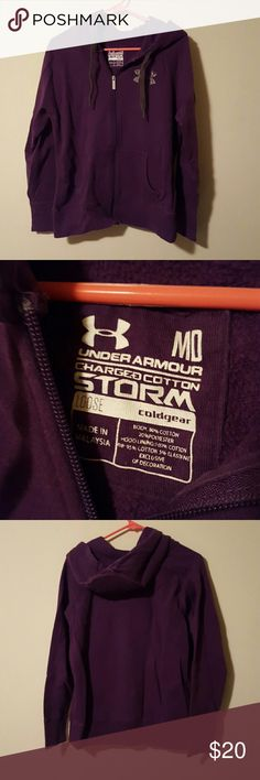 Purple Zip Up Under Armour Hoodie Purple size medium zip up under armour hoodie. No holes or tears in great condition. Under Armour Tops Sweatshirts & Hoodies