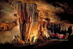 Fantastic Caverns tours allow you to ride through the cave on a Jeep-drawn tram, which is great for families with small children.