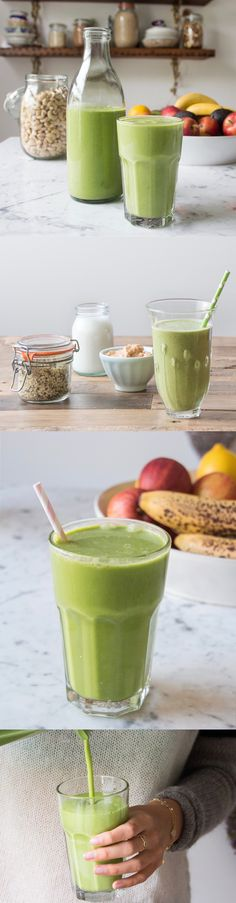 Green smoothie recipes, such an easy way to up your fruit and veg intake everyday and so delicious too. One of my favourite on-the-go breakfasts!