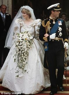 I remember thinking that her bouquet was HUGE. But she began the trend of large wedding bouquets that was very popular for probably 20+ yrs.