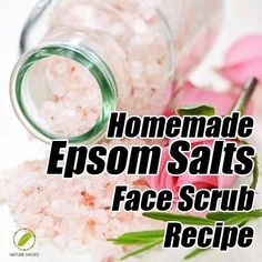 Epsom Salt Face Scrub Recipe, I use ground coffee and make it a full body scrub. Grind salt in a coffee grinder if your going to use it on you face. Organic Face Moisturizer, Homemade Face Moisturizer, Face Scrub Homemade, Homemade Skin Care, Homemade Beauty Products, Face Cleanser, Salt Face Scrub, Coffee Face Scrub, Epsom Salt