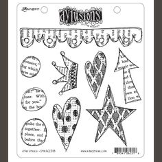 You're going to be Star Struck when you create stamping projects using the unmounted rubber stamp set by Dylusions Stamps for Ranger Ink. Included in the set are 9 rubber stamps that come on a x storage sheet. Art Journal Pages, Art Journals, Ranger Ink, Tampons, Ink Pads, Colouring Pages, Coloring, Art Journal Inspiration, Stamp Collecting