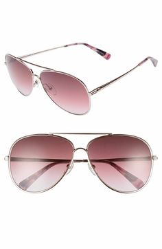 Main Image - Longchamp 61mm Gradient Lens Aviator Sunglasses