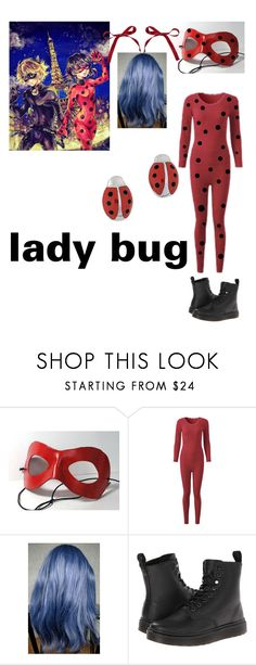 """""""miraculously lady bug cosplay"""" by andystyle1993 ❤ liked on Polyvore featuring Dr. Martens and Aaron Basha"""