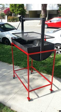 41 Unique Backyard Grill Design Ideas That Looks So Awesome - Backyard landscape design takes the ordinary outdoor space behind your home and transforms it into a fabulous, natural living area that enhances your . Patio Gas, Patio Grill, Oil Drum Bbq, Design Grill, Bbq Stove, Grill Stand, Fire Pit Grill, Outdoor Stove, Patio Fire Pits
