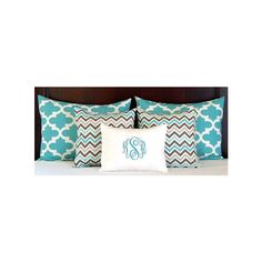 Bed Pillows Shams Turquoise Bedding Full Queen Pillow Shams Queen... ($102) ❤ liked on Polyvore featuring home, bed & bath, bedding, bed pillows, grey, home & living, grey bedding, gray bedding, gray twin bedding and turquoise queen bedding