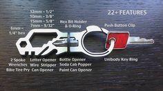 KeyMAX™ Titanium Clip-On Key Ring & 22 in 1 Multi-tool EDC by Creative TV llc — Kickstarter