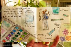 Some sweet art journal pages on this blog.