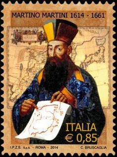 Stamp: Portrait of Martino Martini (Italy) (4th centenary of the birth of Martin Martini) Mi:IT 3675,Yt:IT 3436,Sas:IT 3459,Un:IT 3518,Bol:IT 3584