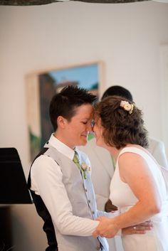 such a sweet lesbian wedding portrait