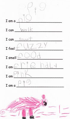 I love using simple poetry frames with my girls. Writing poems is a great way to both use language creatively and share facts and information. We recently had fun writing these simple, fill-in-the-blank animal poems during our study of animals: I am a __________ I can ___________ I can ___________ I feel ___________ I smell …