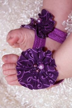 Barefoot Baby Sandals Pretty Purple Plum