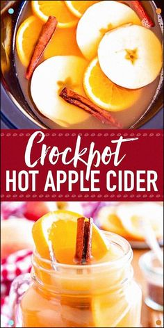 Make Your Home Smell Like The Holidays With This Slow Cooker Spiced Apple Cider Perfect To Serve To A Crowd At Thanksgiving Or Christmas Parties. It's The Perfect Hot Drink For All Kinds Of Fall Gatherings. Making It In The Crockpot Is So Easy With A Del Crockpot Apple Cider, Homemade Apple Cider, Spiced Apple Cider, Spiced Apples, Warm Apple Cider, Orange Recipes, Fall Recipes, Holiday Recipes, Fall Punch Recipes
