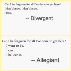 Divergent and Allegiant book quotes. the ending of Allegiant was a HUGE disappointment! Kind of ruins the whole series Divergent Fandom, Divergent Trilogy, Divergent Insurgent Allegiant, Divergent Quotes, Allegiant Quotes, Fantasy Magic, The Fault In Our Stars, Book Fandoms, Tobias