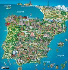 Mapa Artístico de Españapergeo