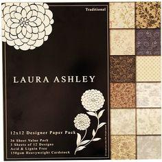 Laura Ashley Traditional Paper Pack - 12x12 12 ks  není