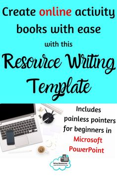 Write a Resource - Task Template How To Use Powerpoint, Microsoft Powerpoint, Teaching English, Learn English, My Philosophy, Learning Resources, My Teacher, Classroom Management, Booklet