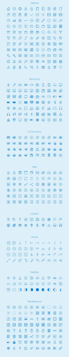 Free download: 450 outline icons photo