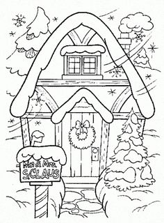 Winter Coloring Page Printable