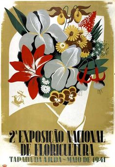Maria Keil do Amaral illustration for the 1941 floriculture national exhibition