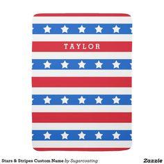 Stars & Stripes Custom Name Receiving Blankets