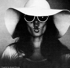 Cheeky pout: The candid black and white pictures, taken in 2008 by American heartthrob Bra...