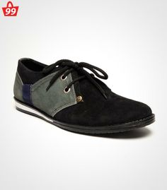 Step in #Style with ultimate pick of this season when you adorn this pair of Bacca Bucci Suede Leather Black Casual Shoes