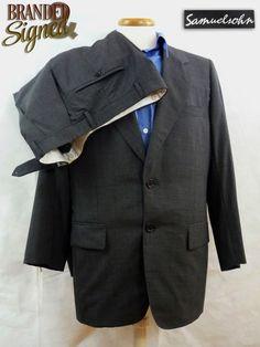 2000$ Samuelsohn SB SAVOY Suit 38S 2 Btns Super 130 s FULL CANVAS 32X29 RECENT! Office Wear, Dress To Impress, Blazer, Suits, Canvas, How To Wear, Jackets, Fashion, Tela