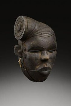 Ogoni masks from Nigeria were worn by young men who put on dynamic and lively performances. They were used to celebrate the festival of harvested yams, a propitiatory ceremony calling for fertility of the soil. Wood.