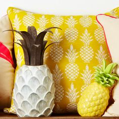 Freedom have gone pineapple crazy which is very on trend right now. I like the white stone pineapple $50. It looks great inside or out but if you want a bit of colour the yellow ones are great too (as is the cushion!)