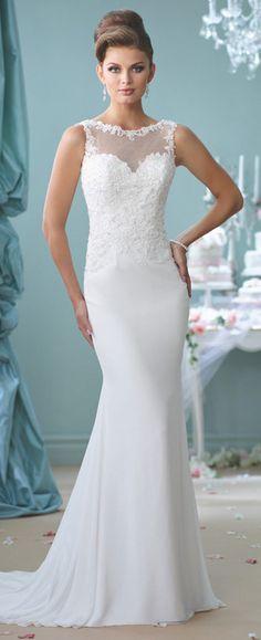Modern Wedding Dresses 2018 by Mon Cheri | Wedding dress, Spring and ...