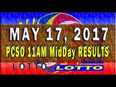 PCSO MidDay - 11AM Results May 17, 2017 (SWERTRES & EZ2)