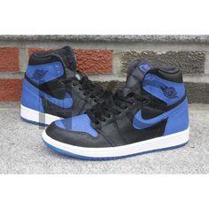 405eb10ae96c Nike Air Jordan 1 I Retro Laser High Og Royal Blue Black Custom ( 475) ❤  liked on Polyvore featuring black and shoes