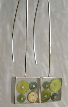 Carla Pennie Jewelry Design – Earrings – Serpentine Molecule Earrings www.AmericanMadeShow.com/apply